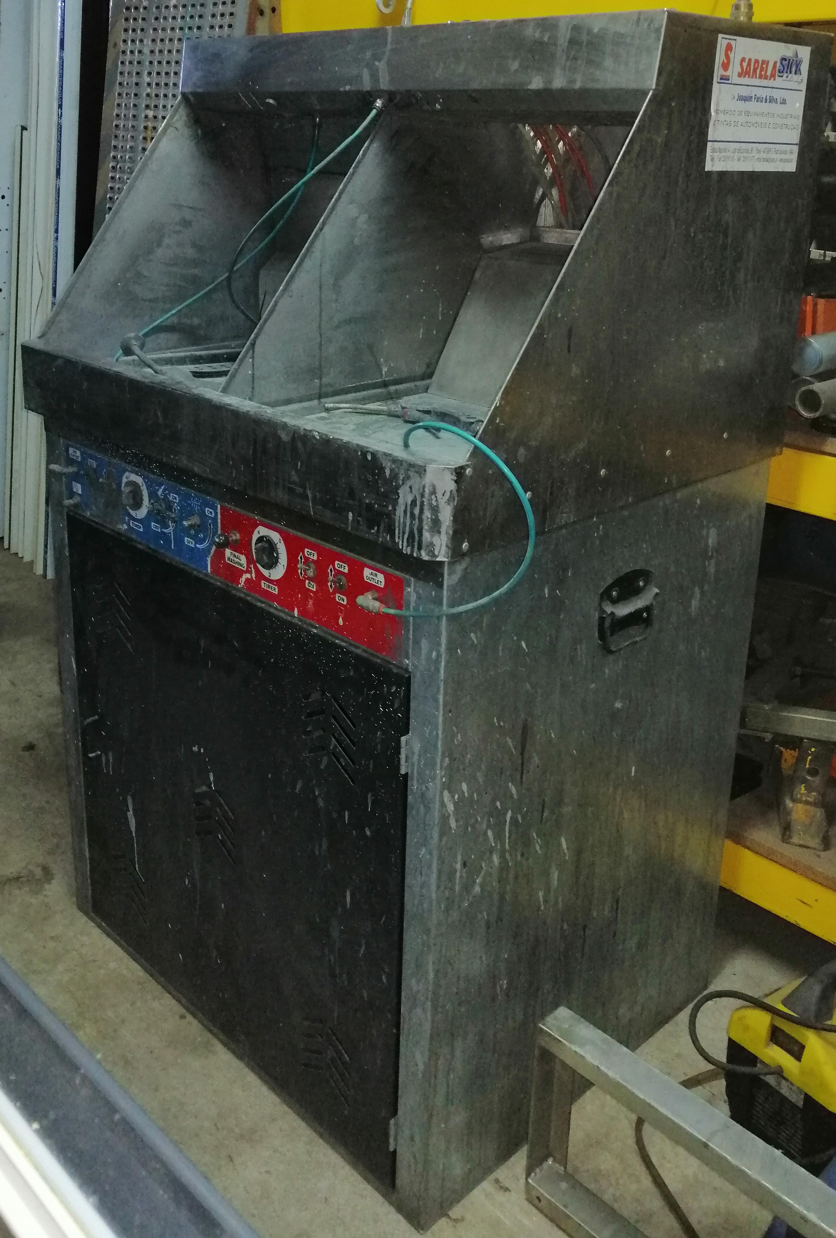 Máquina de Lavar Pistolas Dupla (Manual e Automática)